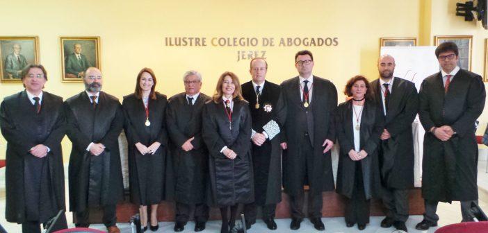 El Colegio de Abogados de Jerez celebra la toma de posesión del nuevo secretario y la renovación de cargos de su Junta de Gobierno