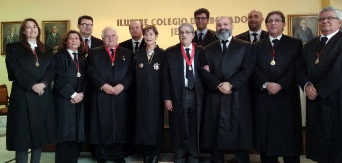 La presidenta del CGAE entrega las Medallas al Mérito en la Abogacía a nuestros colegiados José María Rodríguez de la Milla y Ramón Rojas León