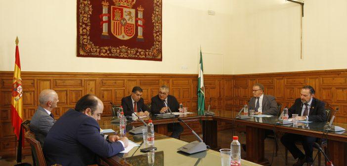 Reunión del Consejo Andaluz de Colegios de Abogados con el Presidente del TSJA